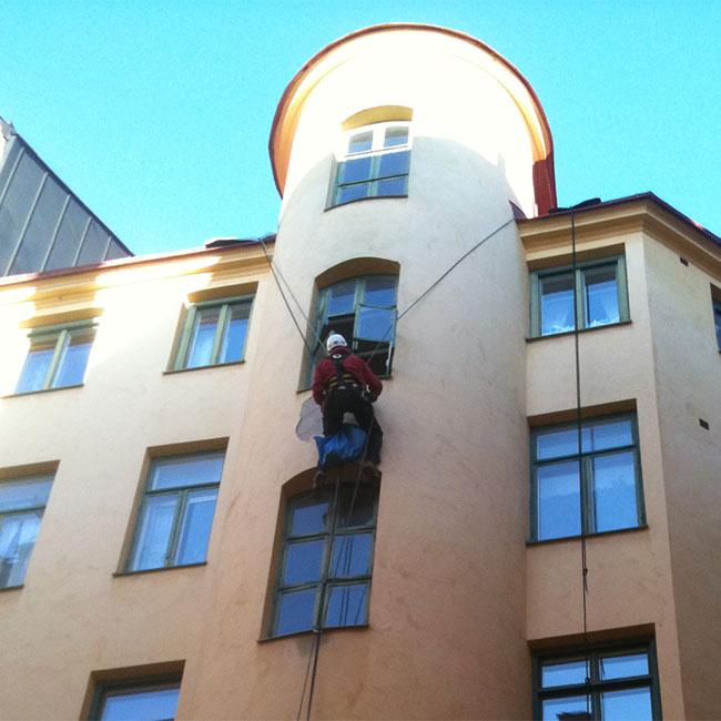 renovera fasad i Stockholm